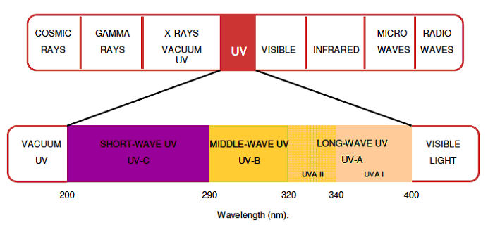 UV-light-ray-spectrum